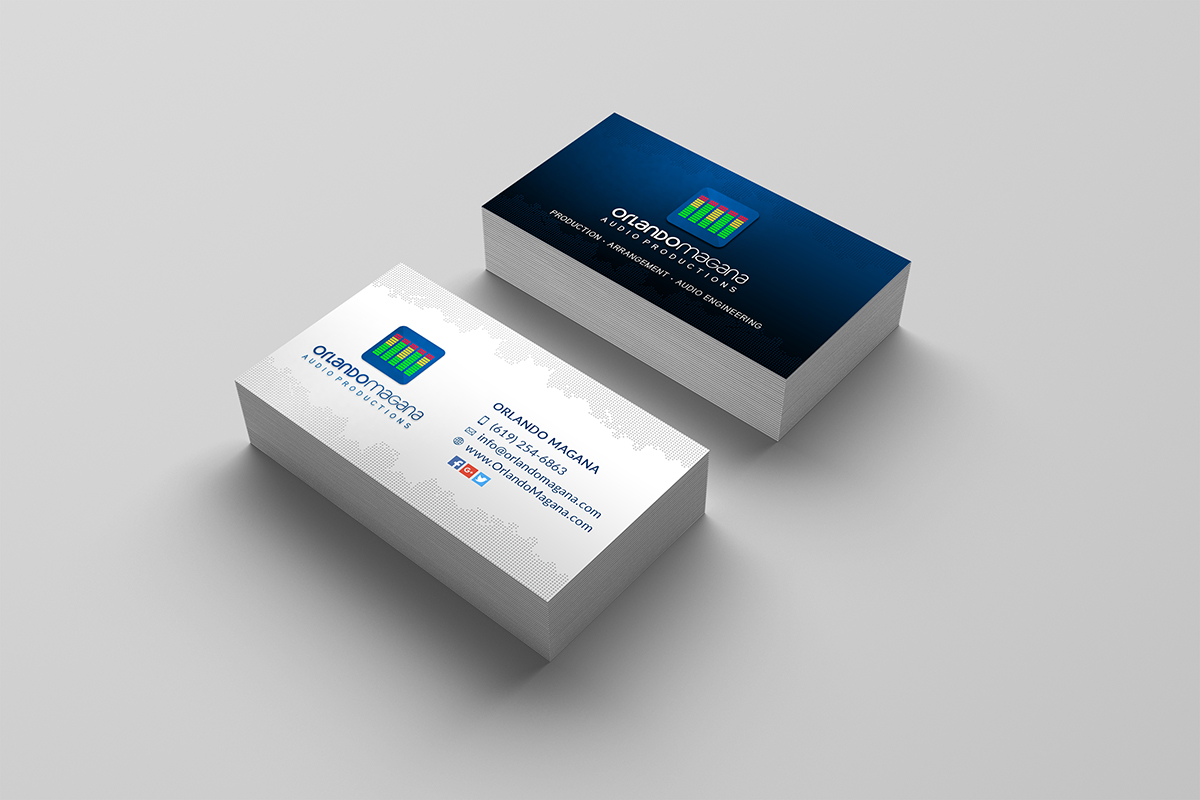 Orlando Magana Productions Business Cards Wire B Graphics