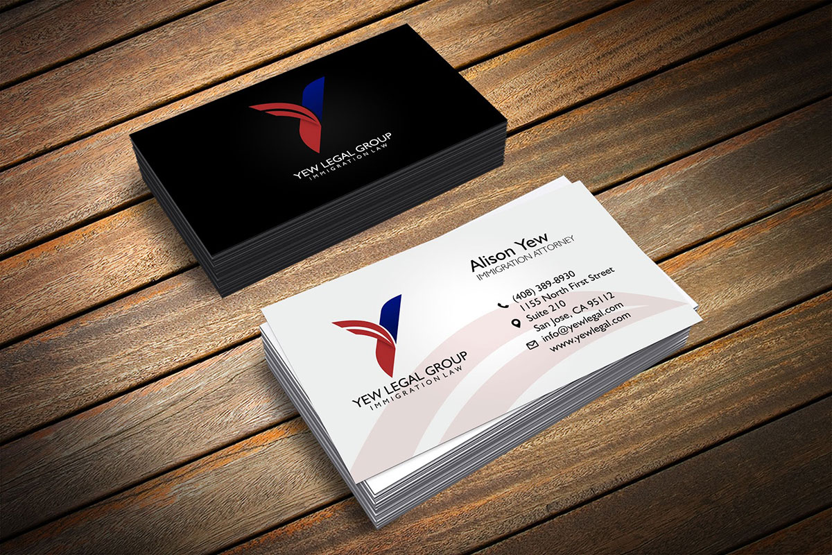 Yew Legal Business Cards | Wire B Graphics | Graphic Design and Web ...